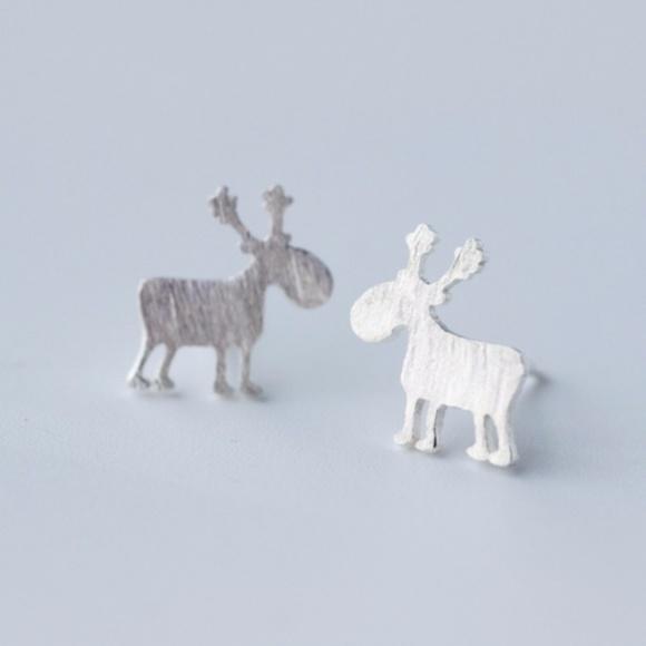 Trendy Jewels Jewelry - Gorgeous Reindeer earrings Sterling Silver